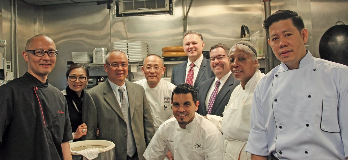 Sherwood Robbins With Teikoku Owner And Employees