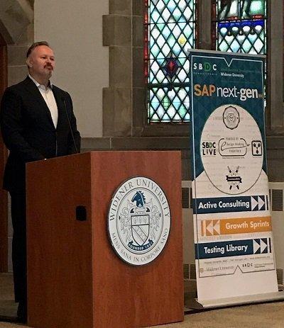 Sherwood Robbins speaks at SBA Emerging Leaders event