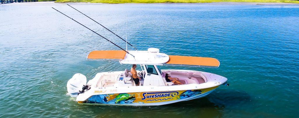 SureShade boat
