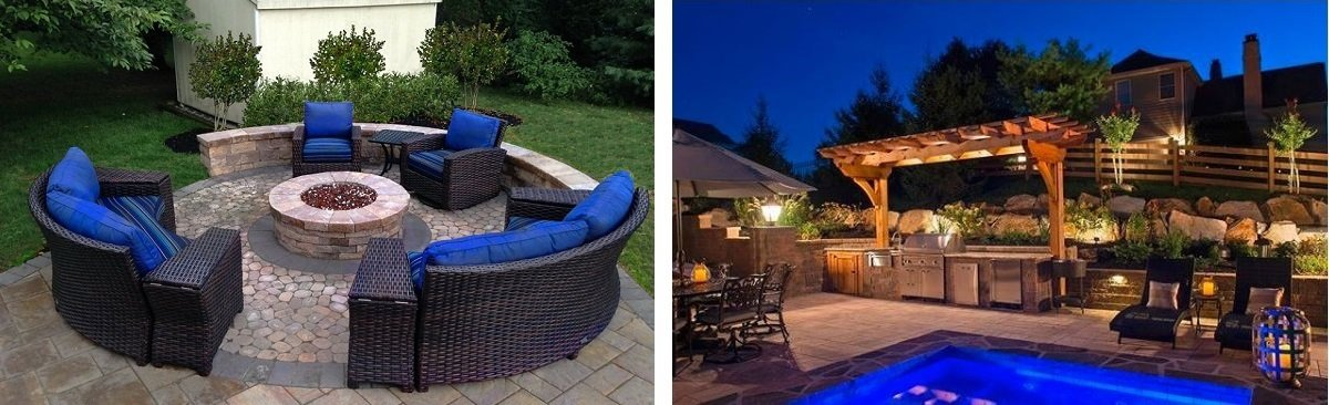 Backyard furniture and displays by Burkholder Brothers