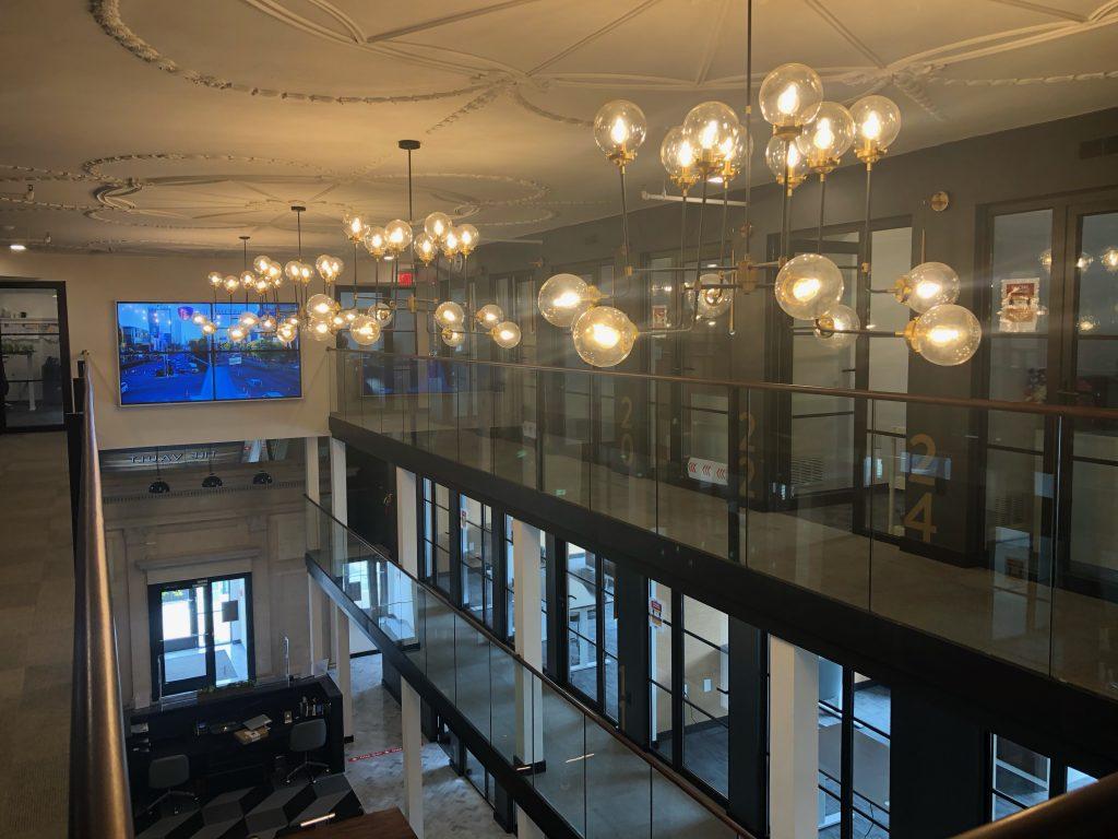 Inside office at Volumetric Building Companies