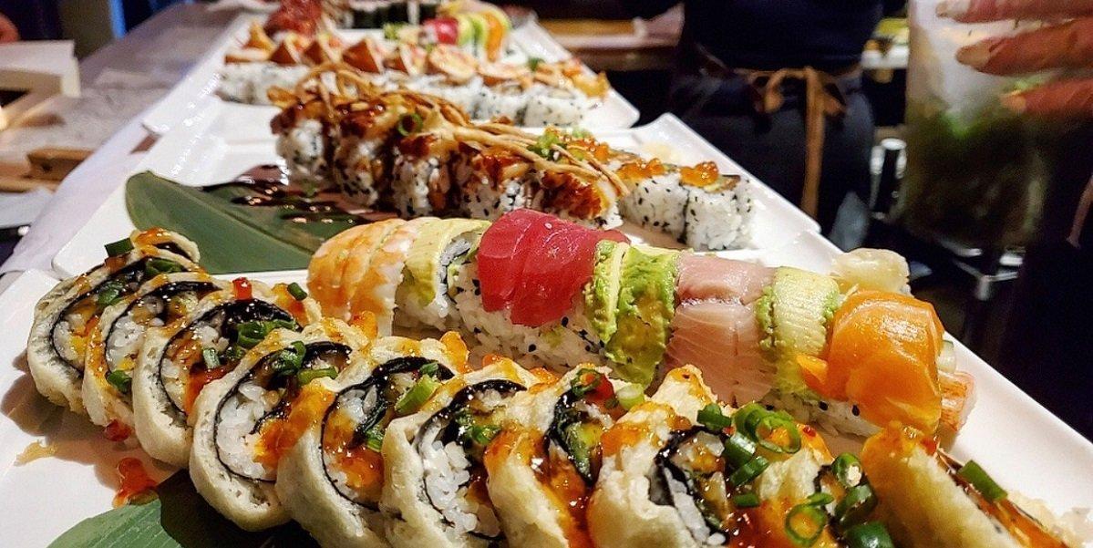 Sushi dish at Go Fish! restaurant