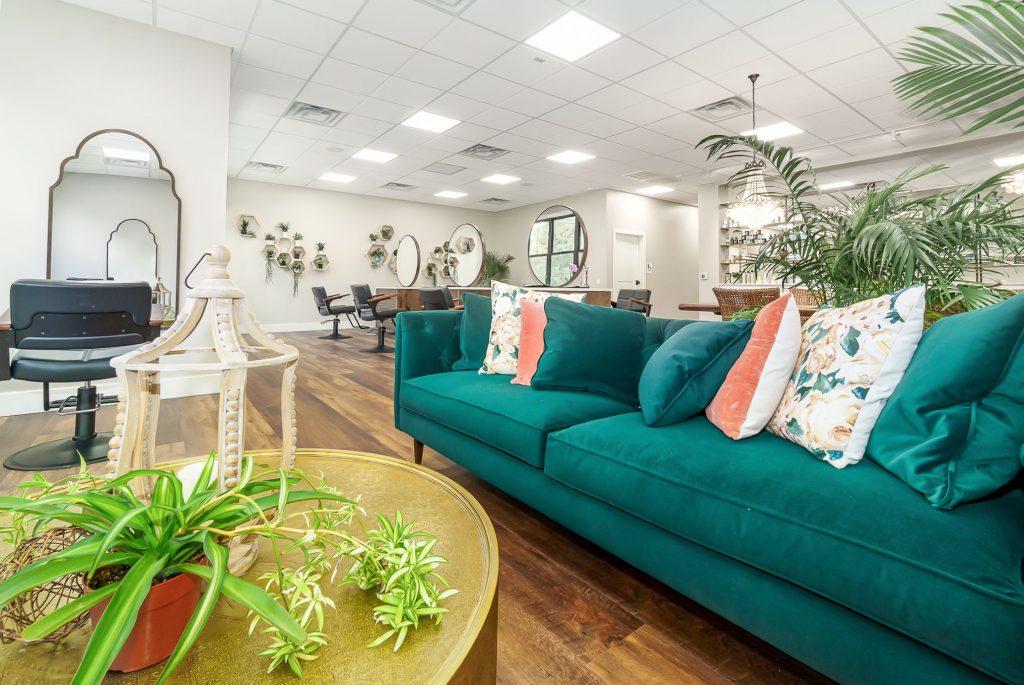Jenny's Salon lounge after renovation
