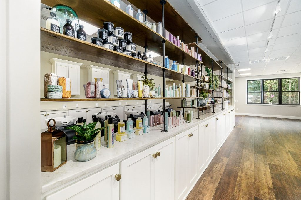 Jenny's Salon products after renovation